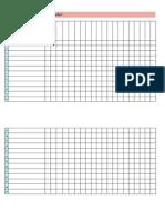 Plantilla evaluación alumnos imprimible