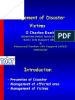 Management of Disaster Victim