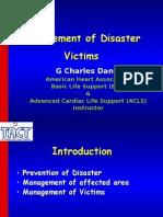 Management of Disaster Victim