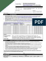 Enrolment Amendment Form 2014
