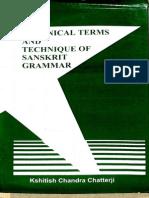 Technical Terms and Technique of Sanskrit Grammar - Kshitish Chandra Chartterji_Part1