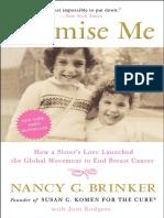 Promise Me by Nancy G. Brinker --  Excerpt