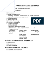 Elements of Marine Insurance Contract