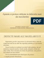 Protezarea in Defectele Mari Ale Maxilarului
