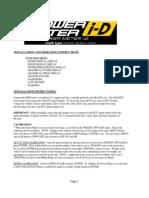 Blitz Powe Meter I-D Manual