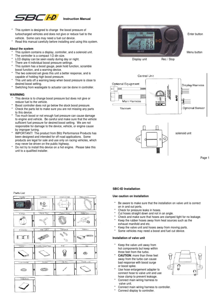 Blitz Boost Gauge Wiring Diagram Schematic Diagrams Vdo Tach Sheet Sbc I D Manual Turbocharger Engines Tachometer