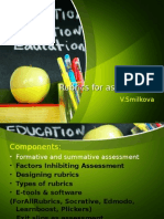 Rubrics and Assessment SMILKOVA