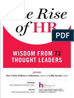 The Rise of Hr Wisdom From 73 Thought Leaders 2015