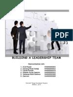 Building a Leadership Team