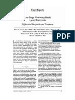 Late Stage Neuropsychiatric Lyme Boreliosis