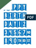 Blue Mini Birthday Bunting