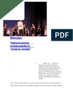 Noticias sobre música tradicional mexicana