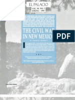 U.S. Civil War Campaign In New Mexico Territory 1862 EL PALACIO MAGAZINE Vol. 96, No. 2 Spring 1991