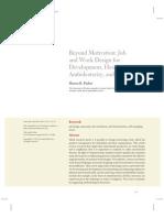 Parker_2014_beyond Motivation_job and Work Design