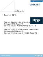 BIOLOGY EDEXCEL IGCSE MAY JUNE 2015