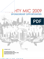 Mighty Mic Sponsorship Packet 2009