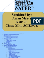 "Project on Project on ""WATER"""