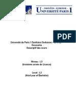 Syllabus l3-Economie Paris 1-Complet Gl-1