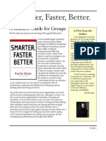 Readers Group Guide to Smarter, Faster, Better