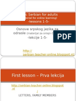 Basic Serbian for Adults-lessons 1-5