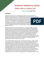 Reviewing the Binitarian or Godhead Duo Falsehood