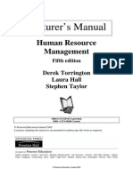 Human Resource Management by Derek Torrington, Laura Hall & Steven Taylor 5E (Lecturer's Manual)