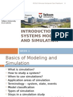 W1 - Introduction to System Modelling and Simulation