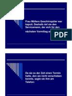 Frau Müllers Geschirrspüler War Kaputt. Deshalb Rief
