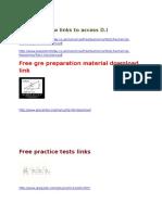 GRE Prep Links