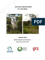 Experiencias Agrofor Alto Mayo Peru
