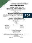Dog Show Entry Form 2010