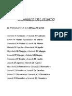 Calendario 2014 Lavaggio Fegato
