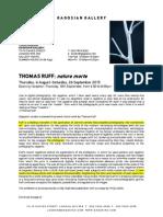 Gagosian Thomas Ruff Nature Morte Press Release
