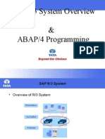 0 ABAP Overview - 2hrs