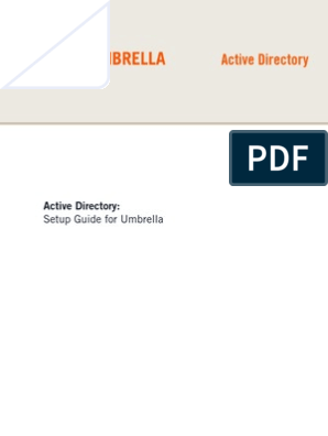 TD Active Directory Setup Guide for Umbrella | Group Policy