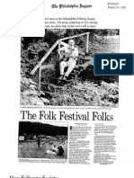 Feature on the Philadelphia Folksong Society