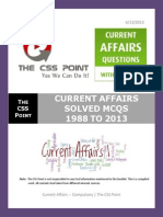 Current Affairs Solved MCQS From 1988 to 2013