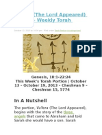 VaYera (the Lord Appeared) Parsha – Weekly Torah Portion