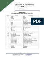 Lista de Utiles 2do