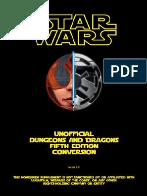 Star Wars - D&D 5th Edition Conversion | Star Wars | Sith
