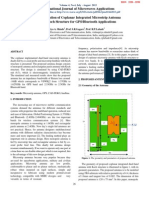 Design and Optimization of Coplanar Integrated Microstrip Antenna with Koch Structure for GPS/Bluetooth Applications