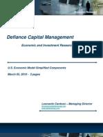 Defiance Capital Management Economic Model Simplified Components