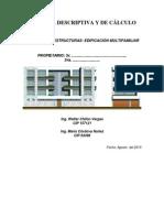 Memoria de Cálculo Edificio Multifamiliar