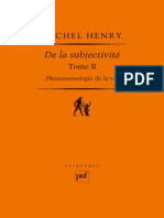 (Epimetée) Michel Henry-Phénoménologie de La Vie, Volume 2 _ de La Subjectivité-Presses Universitaires de France - PUF (2011)