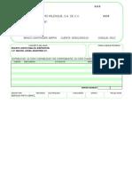 Poliza Cheque Formato