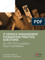 IT Service Management Practice Q&A Preview for Practice