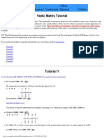 Vefic Math shortcuts