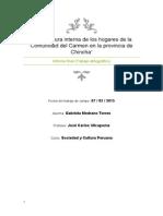 """""""Arquitectura interna de los hogares de la Comunidad del Carmen en la provincia de Chincha"""""""