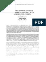 Ciencia, Estado y Arqueologia en Chile