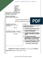 Deckers v. Summer Rio Corp - UGG comlaint.pdf
